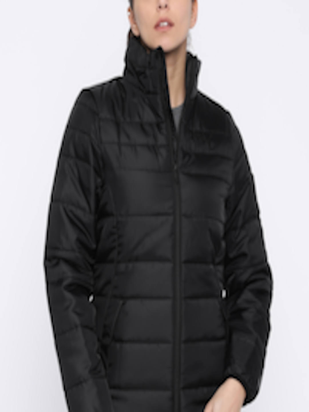 a2d64801ad5 Buy Puma Women Black Solid ESSENTIALS Padded Jacket - Jackets for Women  2284330 | Myntra