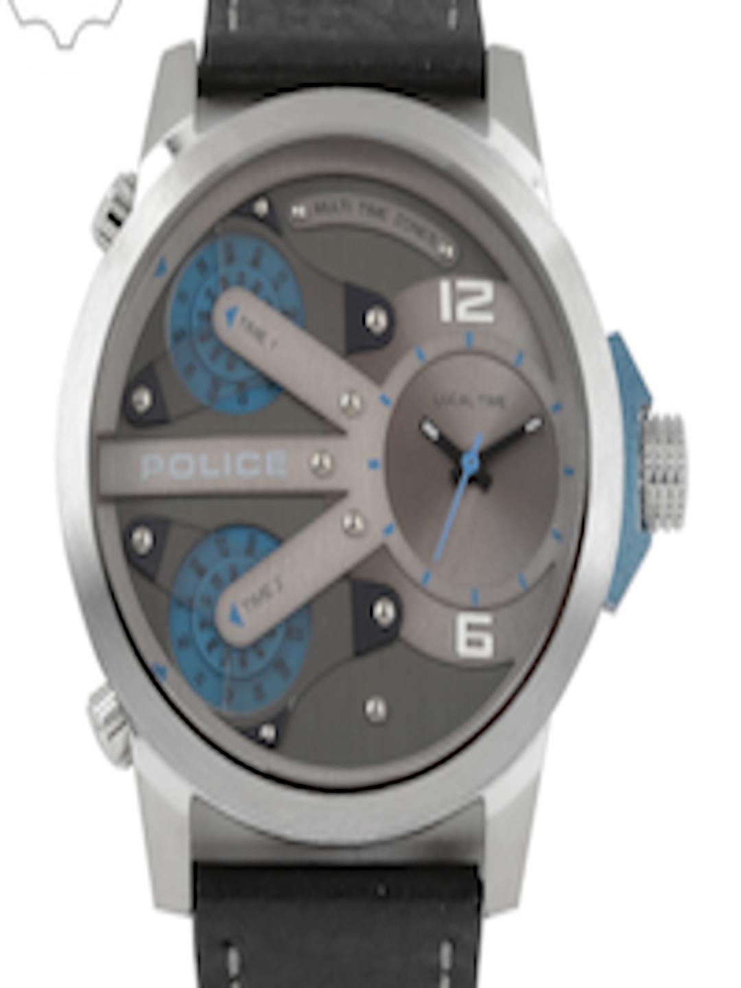 af3ef5a65aa Buy Police Men Silver Toned   Blue Analogue Watch PL14538JS04A BBD - Watches  for Men 2313082