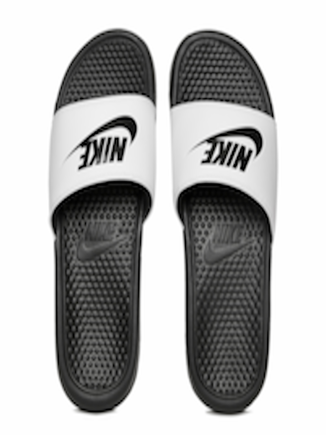 b9f052a2794 Buy Nike Men White   Black BENASSI JDI Printed Flip Flops - Flip ...