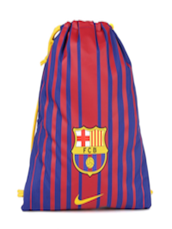 4bc9580d5 Buy Nike Unisex Blue & Red Striped FC Barcelona Stadium Football Gym Sack - Backpacks  for Unisex 2315441   Myntra