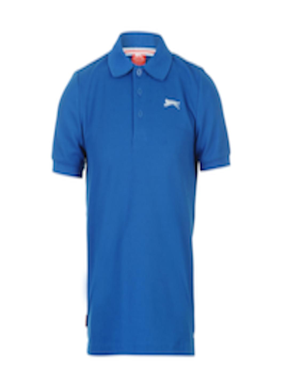580cafae Buy Slazenger Boys Blue Solid Polo Collar T Shirt - Tshirts for Boys  2323894   Myntra