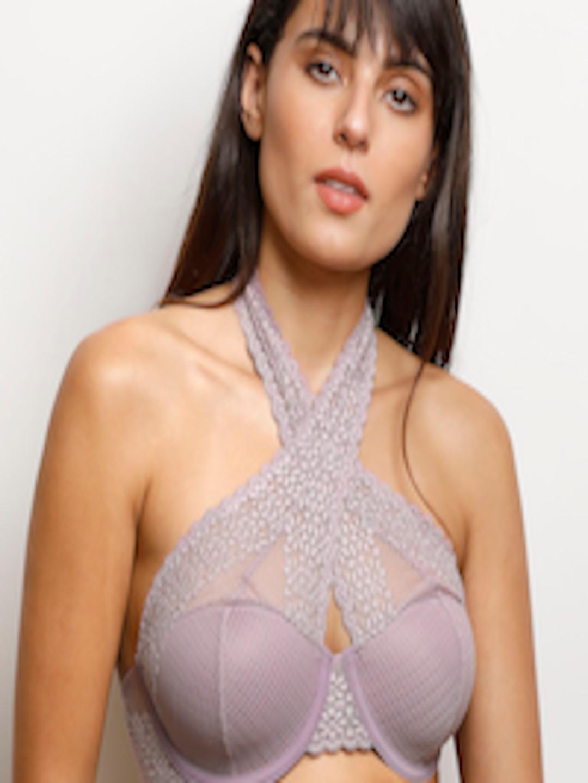 11b175c534b02 Buy Zivame Purple Lace Underwired Lightly Padded Bralette Bra  ZI0101F007PURPL - Bra for Women 2347976