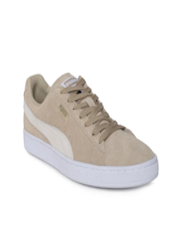 online store e3950 5352e Buy Puma Women Beige Classic + IDP Safari Suede Sneakers - - Footwear for  Women