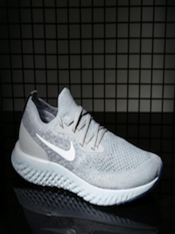 45f8c0d0032 Buy Nike Women Grey EPIC REACT FLYKNIT Running Shoes - - Footwear for Women