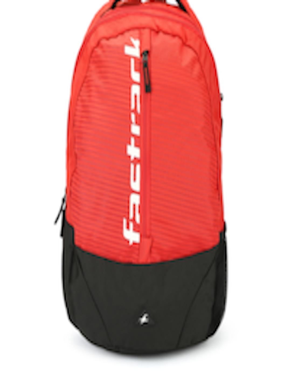 Buy Fastrack Men Red & Black Brand Logo Laptop Backpack ...