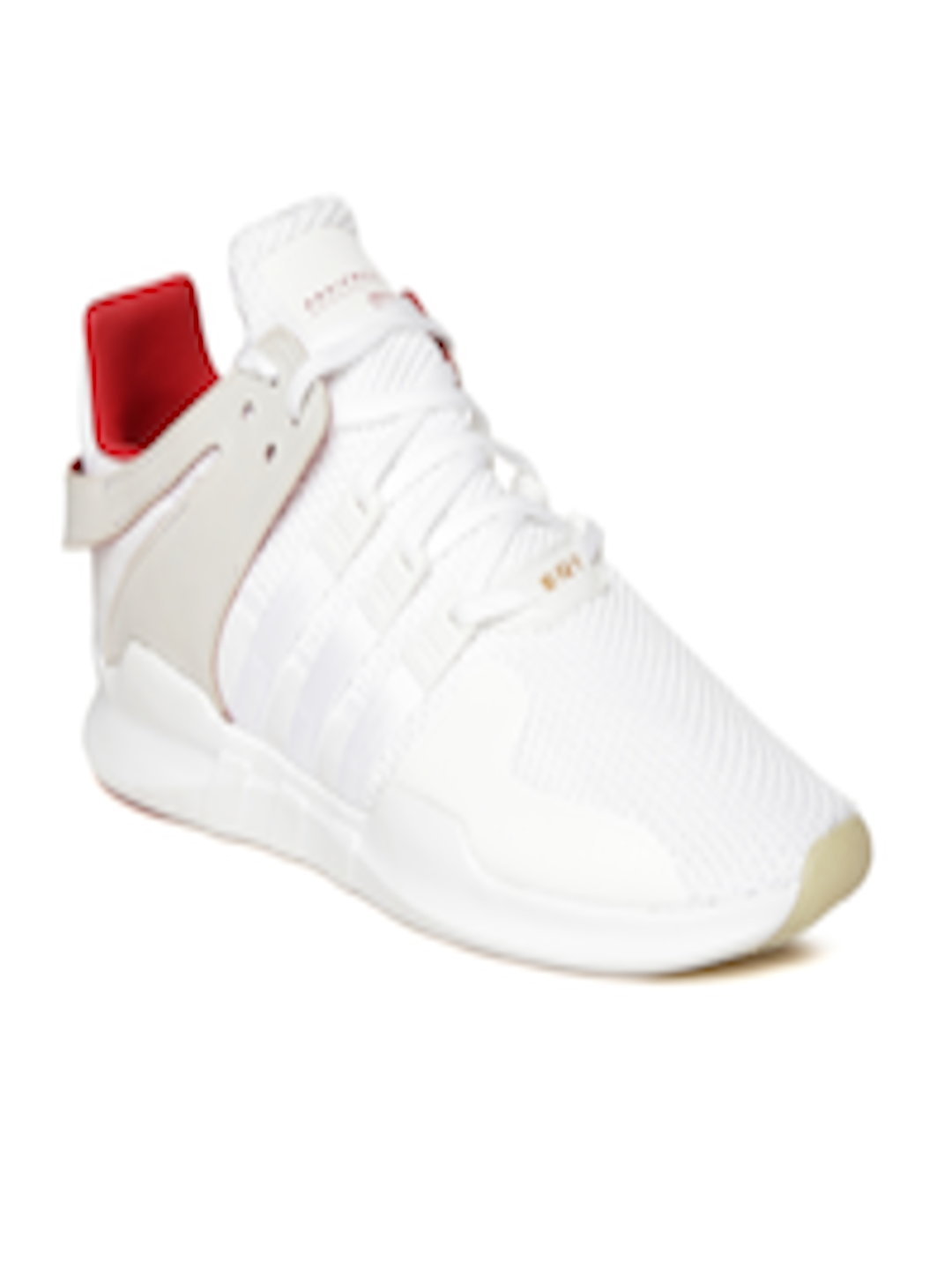 b3d05d0263d1 ADIDAS Originals Men White EQT Support ADV CNY Woven-Design Sneakers