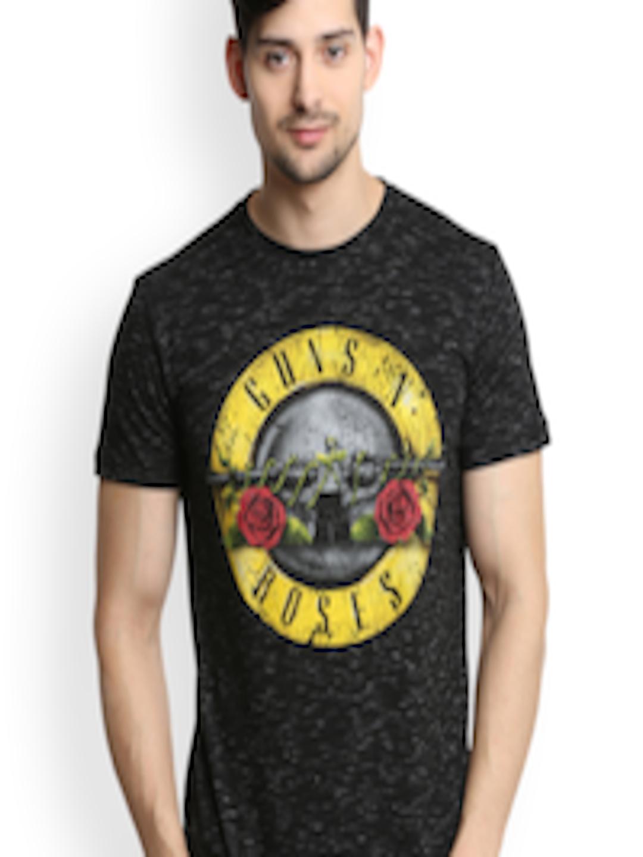 Buy Music Men Black Guns N Roses Print Round Neck T Shirt - - Apparel for  Men