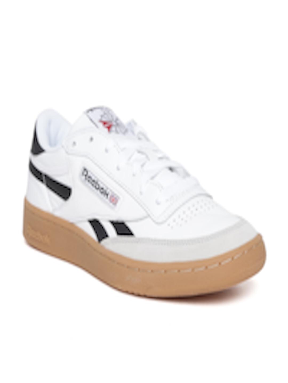 adb83cc3d40 Buy Reebok Classic Men White REVENGE PLUS GUM Leather Sneakers ...