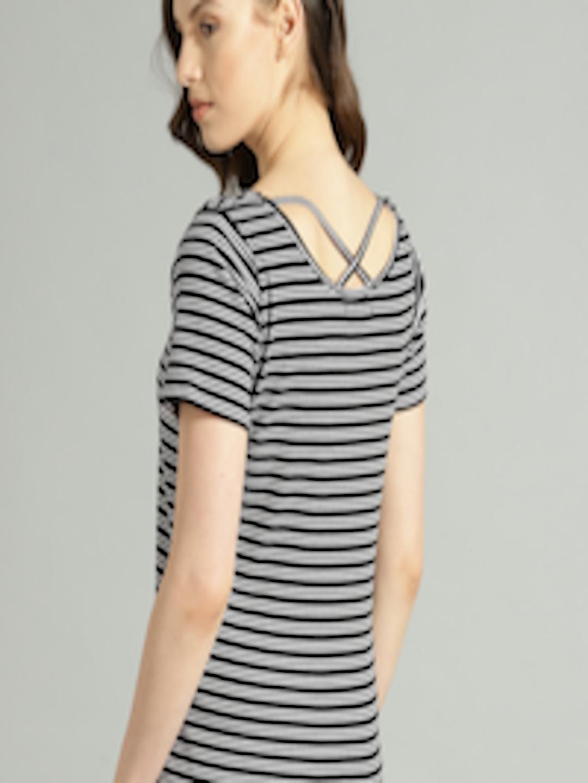 3cb0a757021fbc Buy Roadster Women Black & White Striped Styled Back Top - Tops for Women  2412008 | Myntra