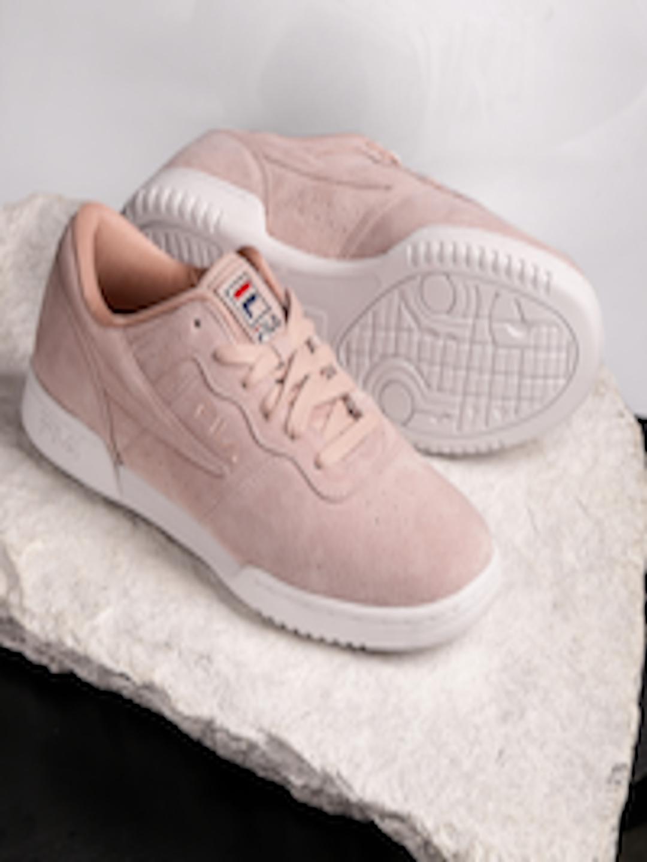 separation shoes 6ea39 0cdb1 FILA Women Dusty Pink Original Fitness Premium Suede Sneakers