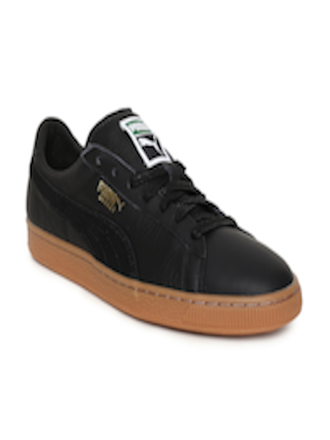 size 40 49bca 534dd Buy Puma Men Black Basket Classic Gum Deluxe Sneakers - Casual Shoes for  Men 2429575   Myntra