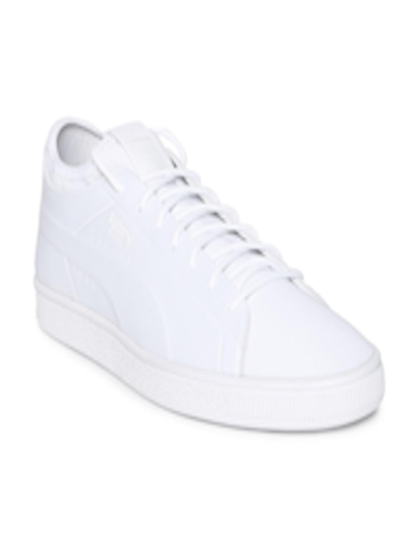 new product 4b13e bcb78 Buy Puma Men White Basket Classic Sock Lo Sneakers - - Footwear for Men