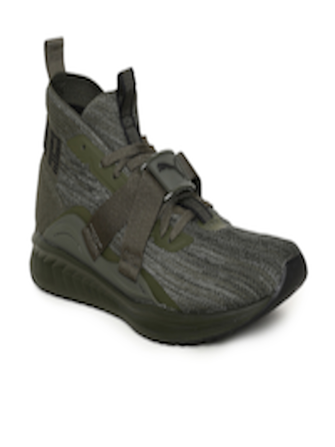 the latest 6aa7c e2655 Buy Puma Men Olive Green IGNITE EvoKNIT 2 Running Shoes - - Footwear for Men