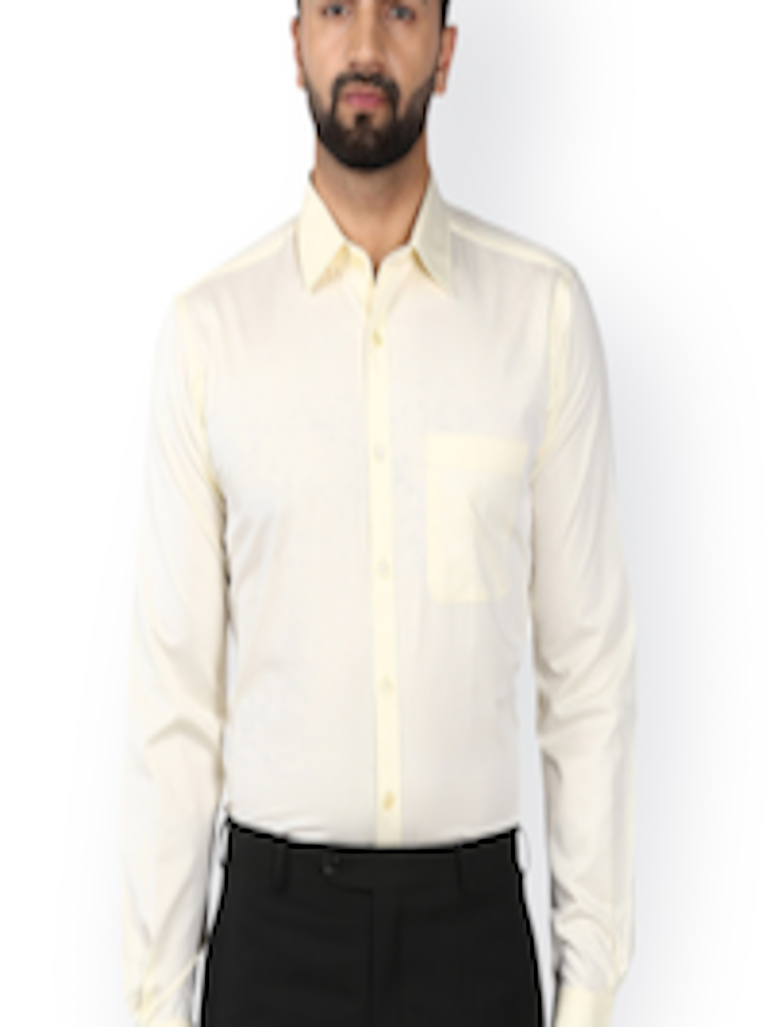 043c586c3 Buy Raymond Men Cream Coloured Slim Fit Solid Formal Shirt - Shirts for Men  2435531