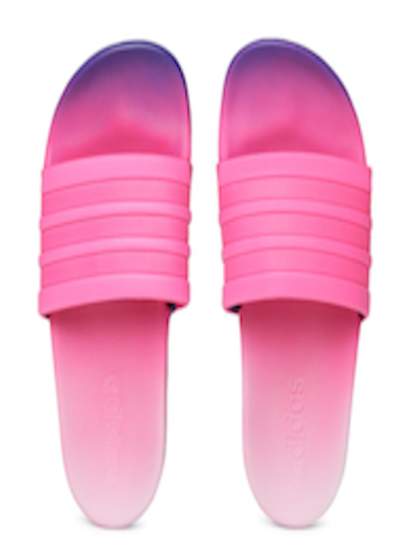 check out b8c1a 1720e Buy ADIDAS Women Pink Adilette CF+ FADE Flip Flops - Flip Flops for Women  2444367  Myntra