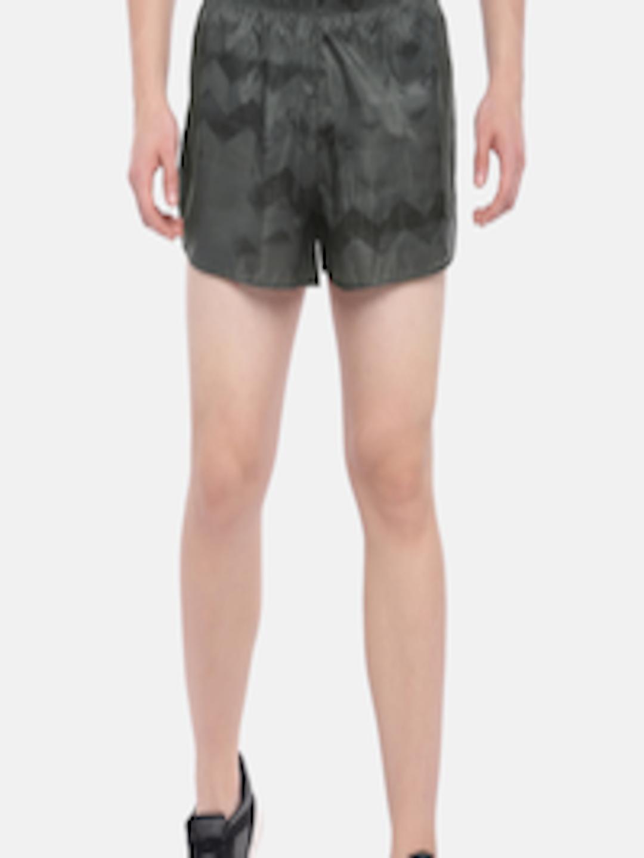 adidas Womens Adizero Booty Shorts Pants Trousers Bottoms Grey Sports Running