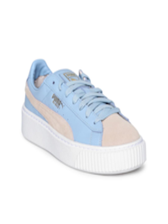 8dc84cdf Buy Puma Women Blue & Pink Basket Platform Coach FM Leather Sneakers - -  Footwear for Women