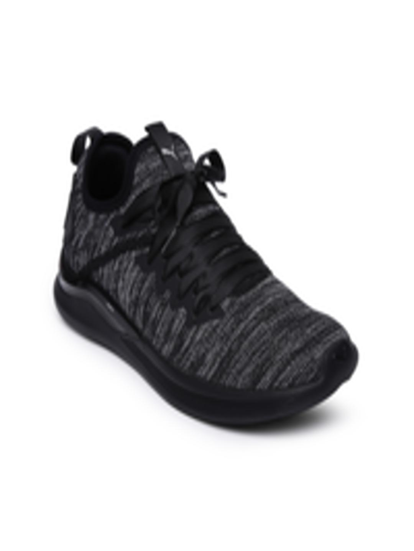 abf7241baa2 Buy Puma Women Black   Charcoal Grey IGNITE Flash EvoKNIT Satin EP Training  Shoes - Sports Shoes for Women 2454890