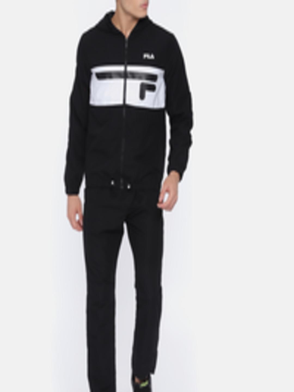 f546a28b Buy FILA Men Black TURIN Tracksuit - - Apparel for Men
