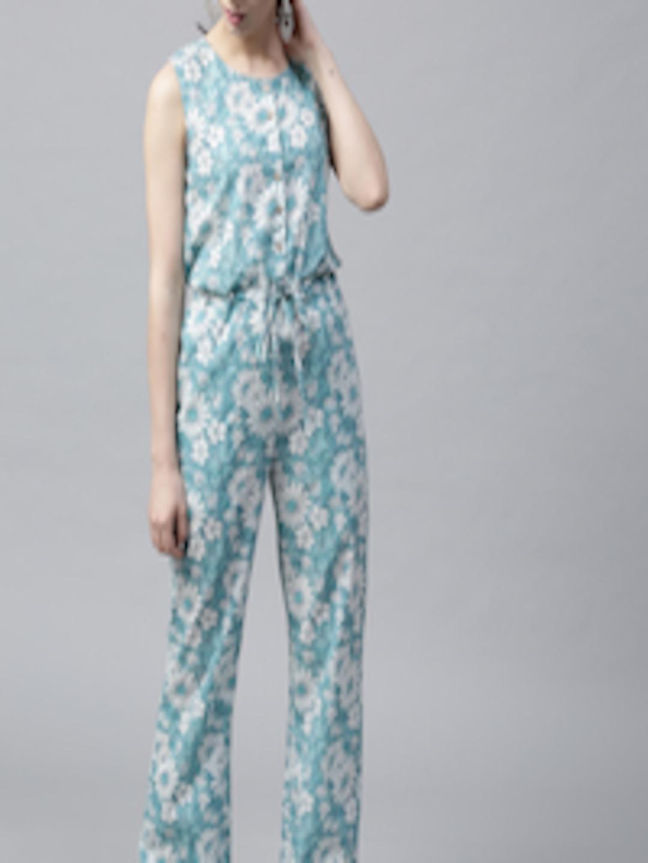 40723ec212 Buy AKS Blue   White Floral Print Jumpsuit - Jumpsuit for Women 2463694