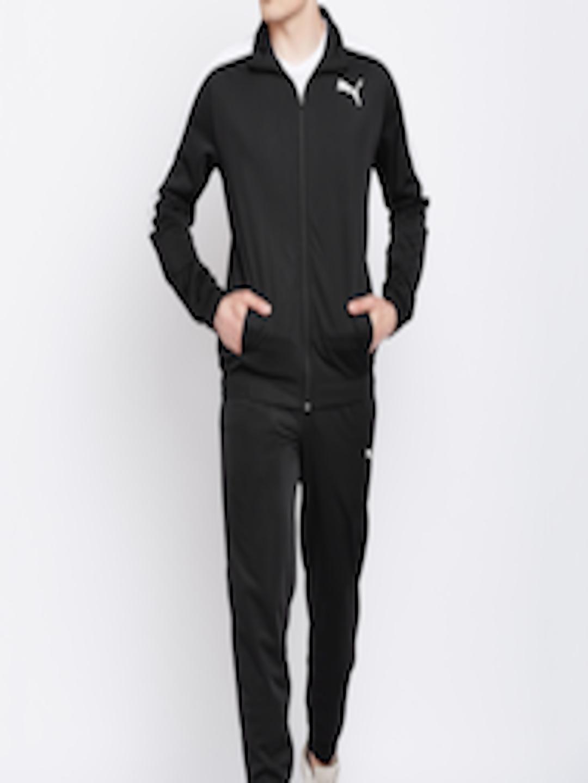 04f97b081c4a39 Buy Puma Men Black Solid Classic Tricot Suit CL Track Suit ...