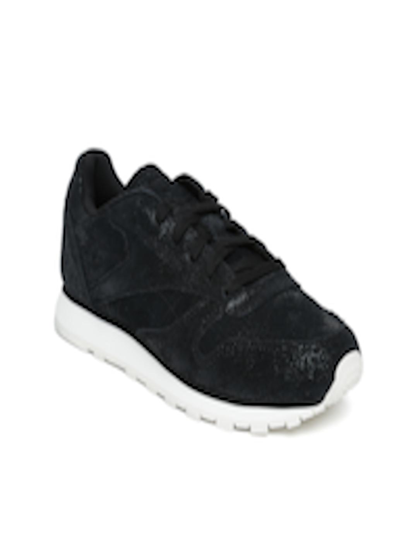 29b5e88da408 Buy Reebok Classic Women Black CL Shimmer Leather Sneakers - Casual ...