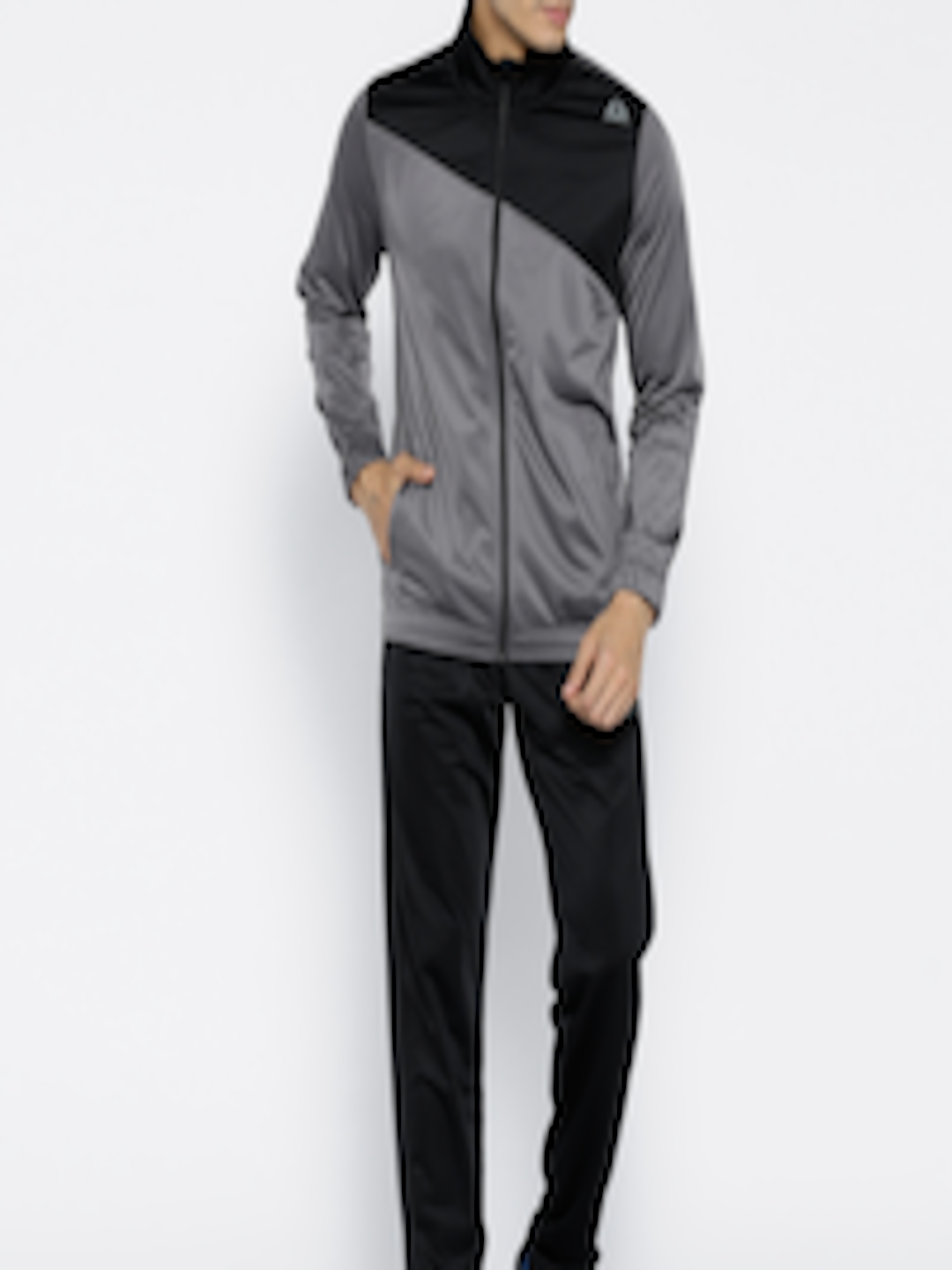 e20be770cced Buy Reebok Grey   Black TRICOT Training Tracksuit - Tracksuits for Men  2497374