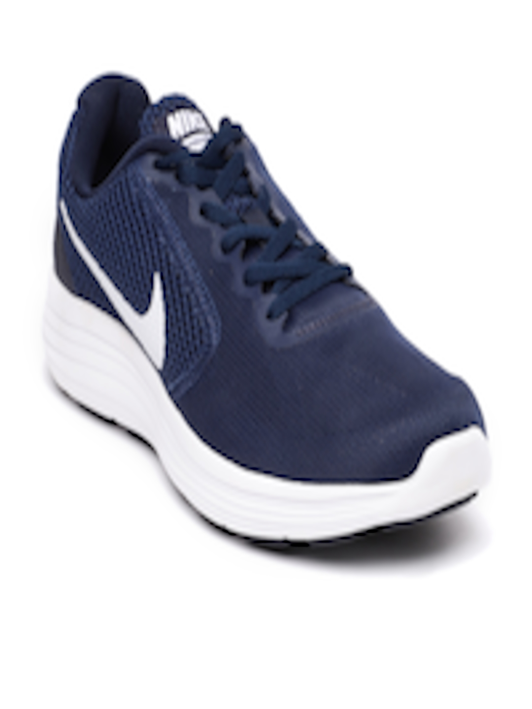 low priced 0ed0b 68991 Buy Nike Men Navy Revolution 3 Running Shoes - - Footwear for Men