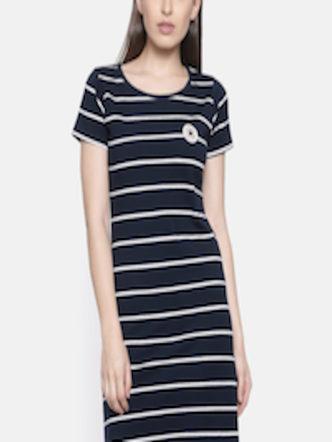8838bc2b21ff Buy Converse Women Navy   White Striped T Shirt Dress - Dresses for Women  2612802