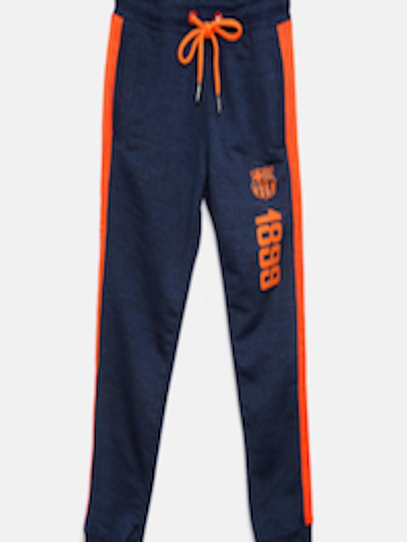 Buy Fc Barcelona Boys Navy Blue Amp Orange Fcb Joggers