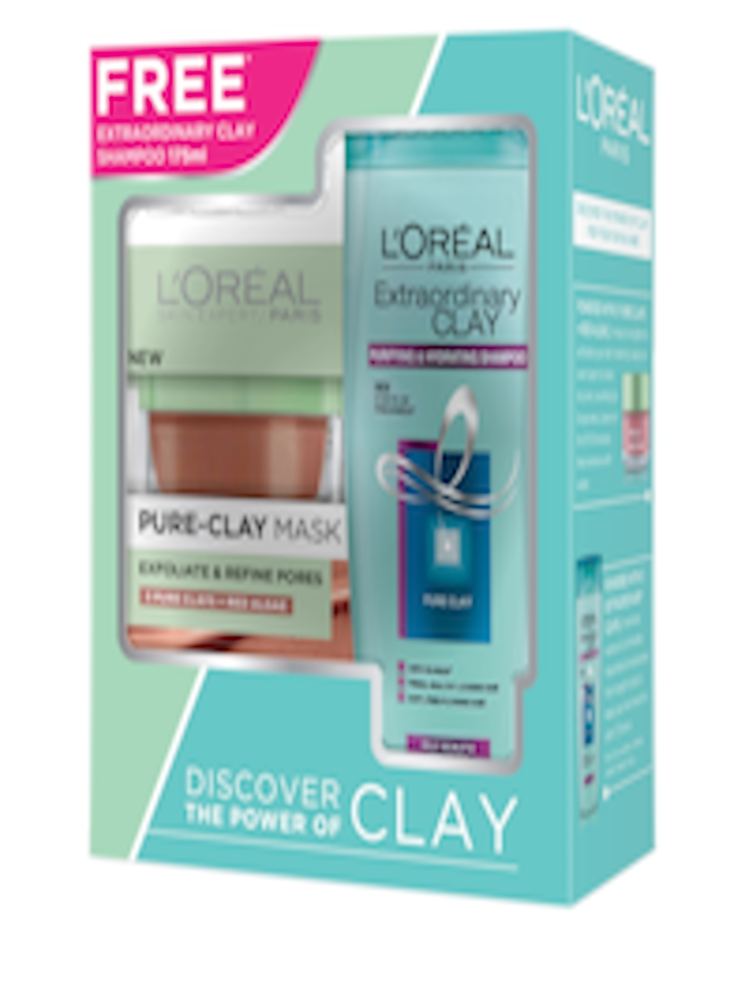 e6d23b2a376 Buy LOreal Women Pure Clay Mask Red Algae + Extraordinary Clay Shampoo -  Mask And Peel for Women 2966312 | Myntra