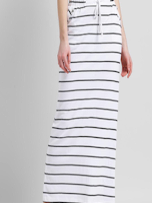 794db874a Buy Texco Women White & Black Striped Maxi Skirt - Skirts for Women 3011414  | Myntra
