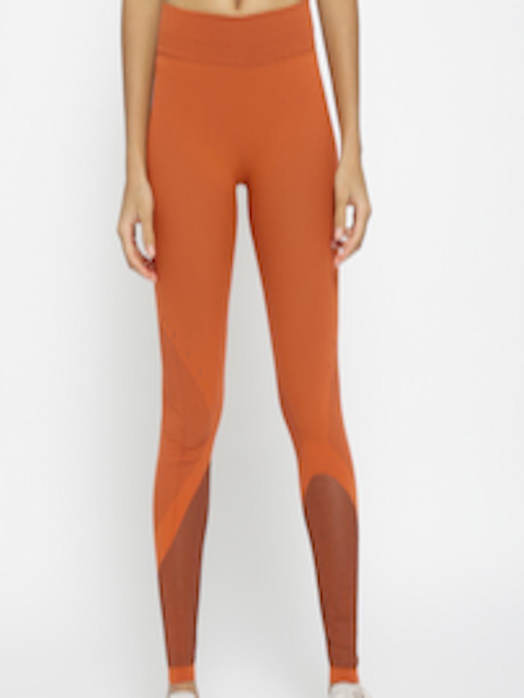 8b90cea189a4d Buy ADIDAS Women Orange Warp Knit Tights - Tights for Women 3888711   Myntra