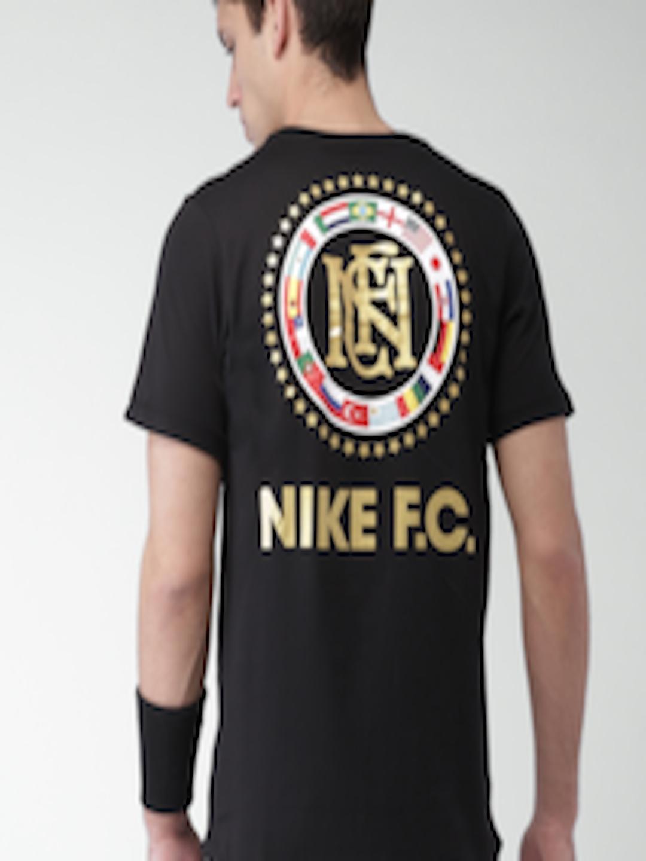 adb7c9513 Buy Nike Black Printed Flag Crest FC T Shirt - Tshirts for Men 4029242