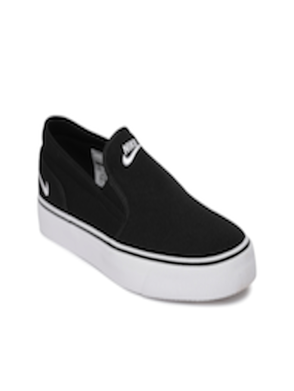 cb8931c1da Buy Nike Women Black Toki Slip On Sneakers - Casual Shoes for Women 4030137    Myntra