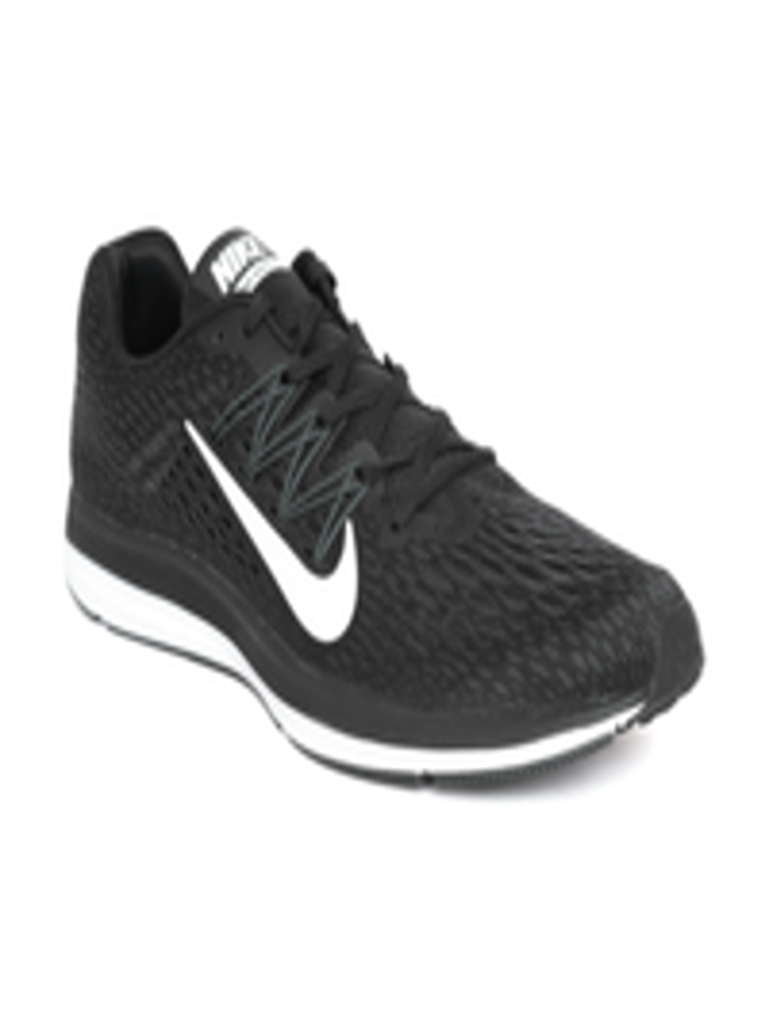 new product 8d0f3 442ab Buy Nike Men Black Zoom Winflo 5 Running Shoes - - Footwear for Men