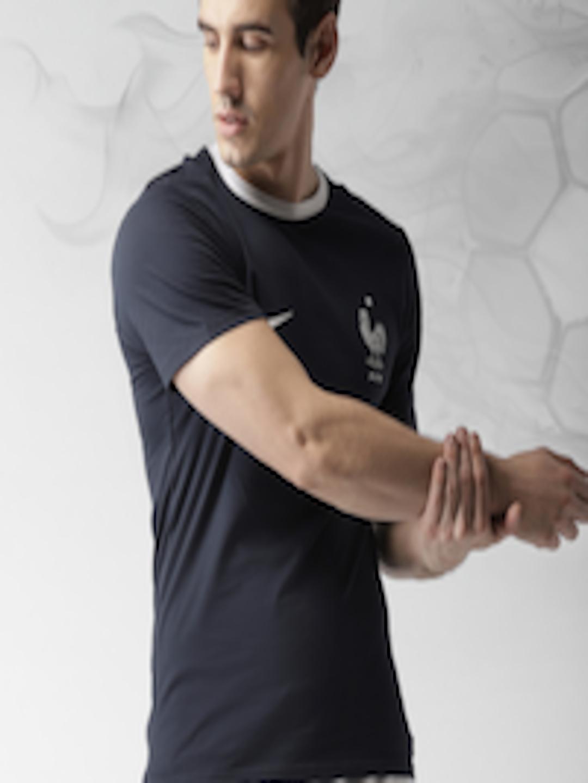 b76245f0 Buy Nike Navy FFF Crest Football T Shirt - Tshirts for Men 4368418   Myntra