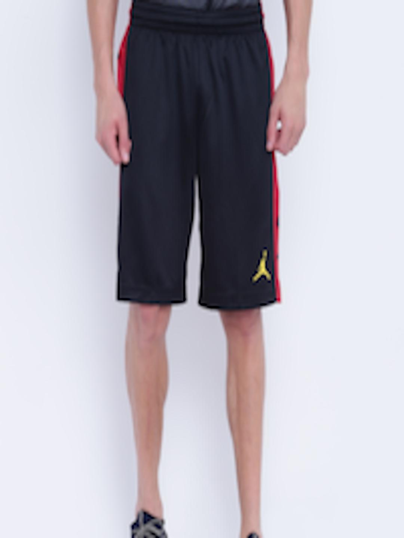 info for dda1d ef841 Buy Nike Black Solid Rise Graphic Basketball Shorts - Shorts for Men  4368641   Myntra