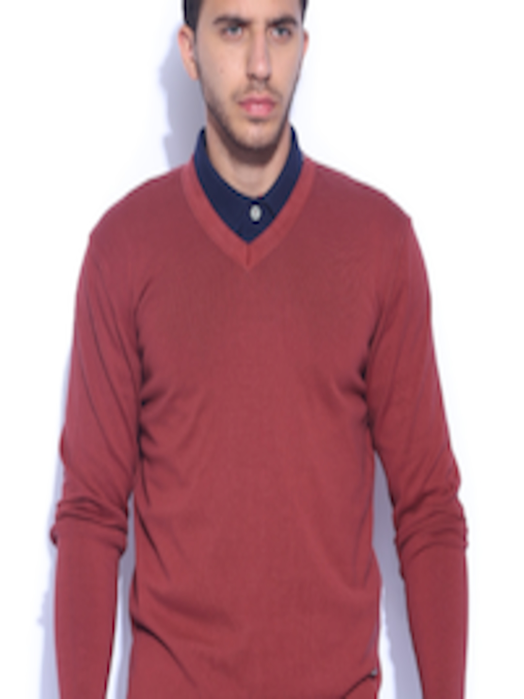 Buy Arrow New York Brick Red Sweater - Sweaters for Men | Myntra