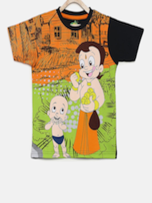 78f74c585 Buy Chhota Bheem Boys Multicoloured Printed Round Neck T Shirt ...