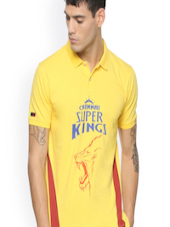 63eb6a2e251 Buy Peter England Men Yellow Chennai Super Kings Slim Fit T Shirt ...