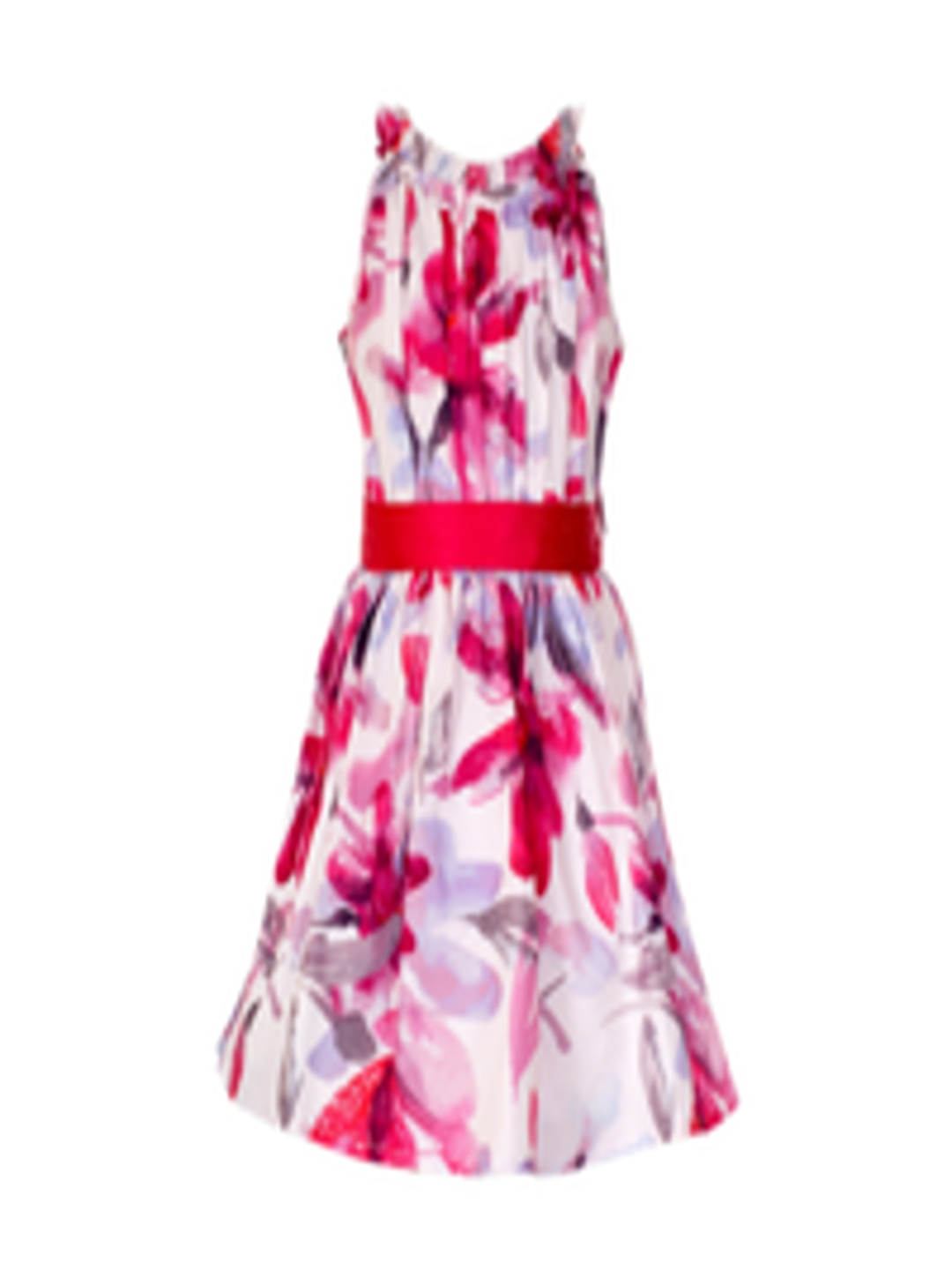 Buy Naughty Ninos Girls White Printed Fit And Flare Dress -3225