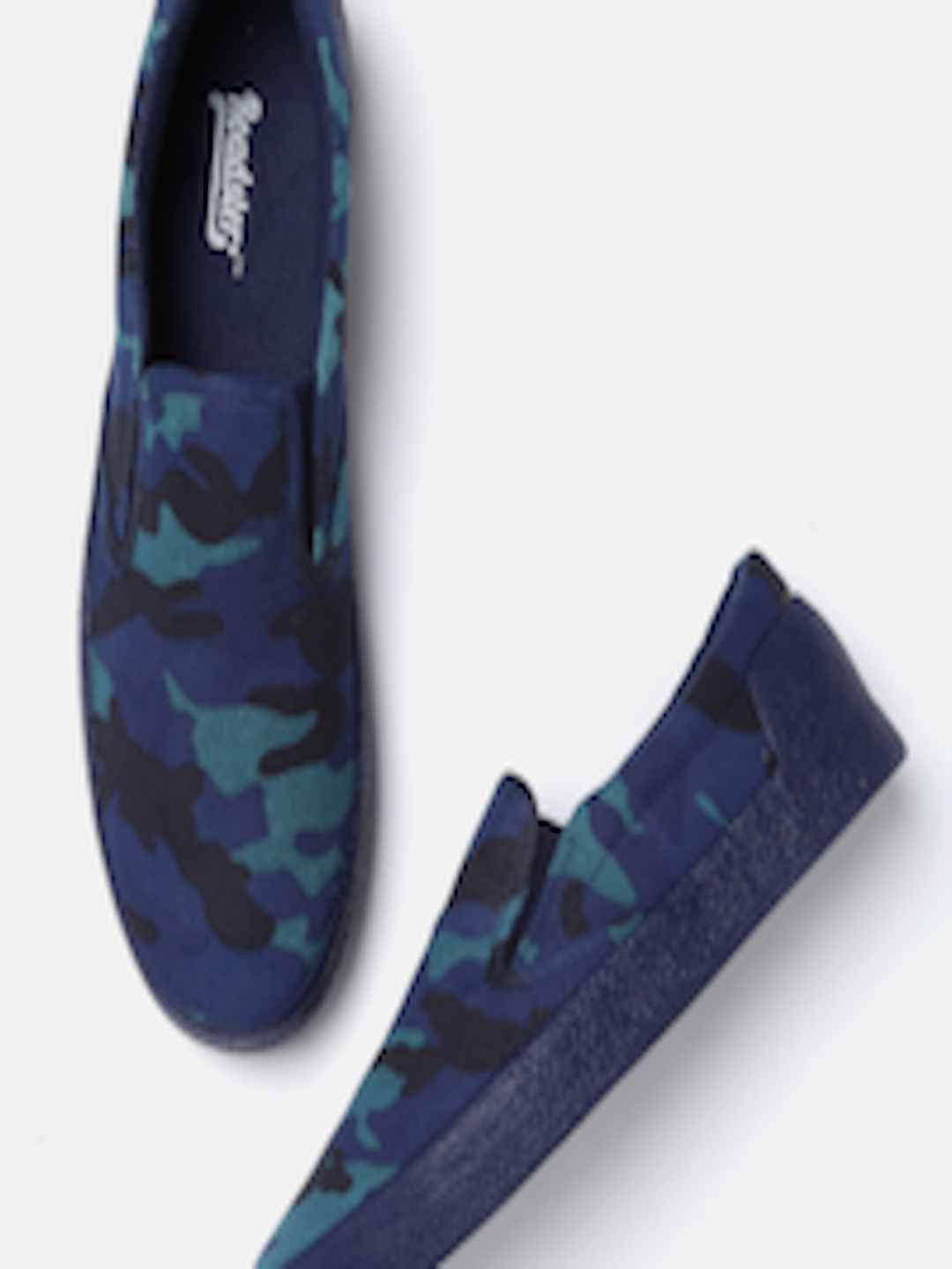 008bc1a74815d Buy Roadster Men Navy Blue Printed Slip On Sneakers - Casual Shoes for Men  5497621 | Myntra
