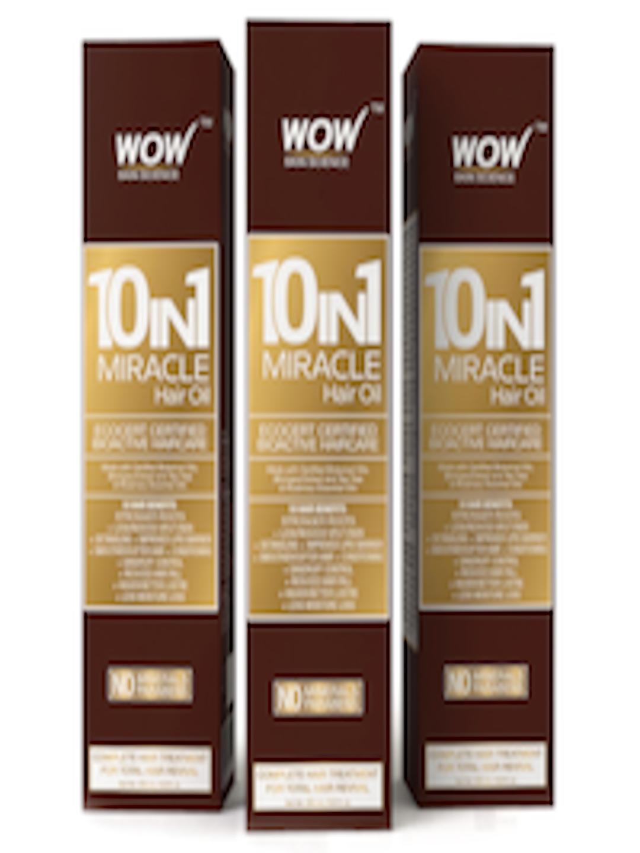 na stopach zdjęcia fantastyczne oszczędności ogromny zapas Buy WOW SKIN SCIENCE 10 In 1 Miracle Hair Oil Pack Of 3 - - Personal Care  for Unisex