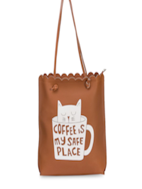 69da71a44e6f Buy LEGAL BRIBE Tan Brown Printed Tote Bag - Handbags for Women 5795620 |  Myntra