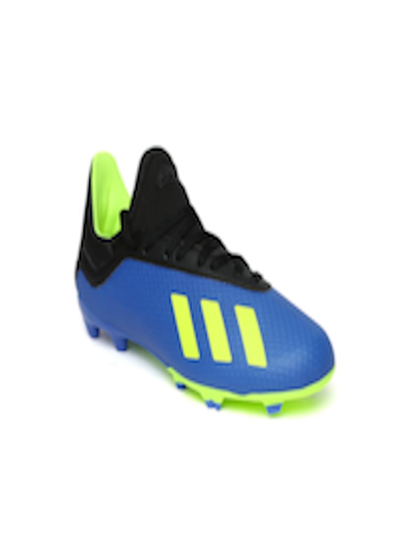 Buy Adidas Boys Blue Black X 183 Firm Ground Football Shoes Footwear For Boys