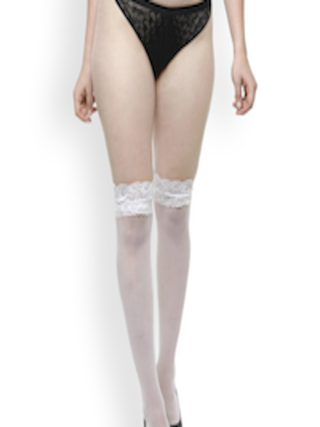 447f668766a Buy N Gal White Thigh High Stockings - Stockings for Women 6553521 ...