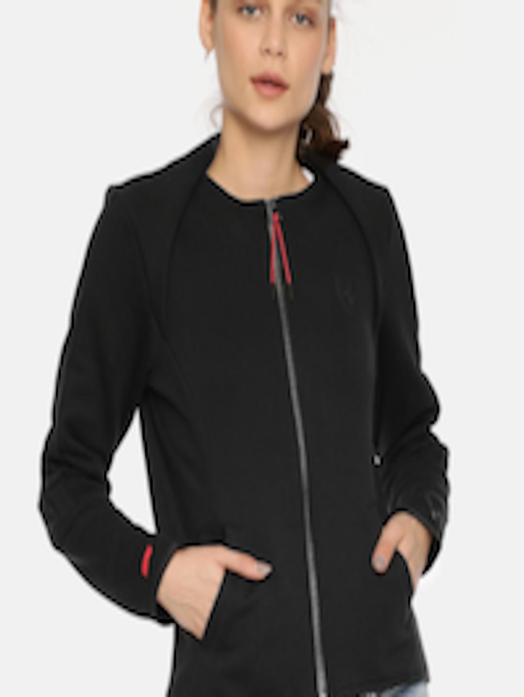 Buy Puma Women Black Ferrari T7 Sporty Jacket Apparel for Women