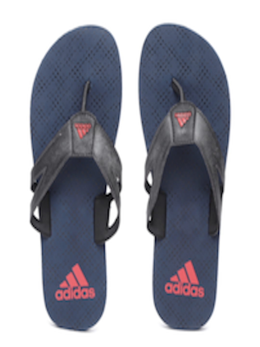 056603a37419 Buy ADIDAS Men Charcoal Grey   Navy Blue OZOR Printed Thong Flip Flops - Flip  Flops for Men 6632866