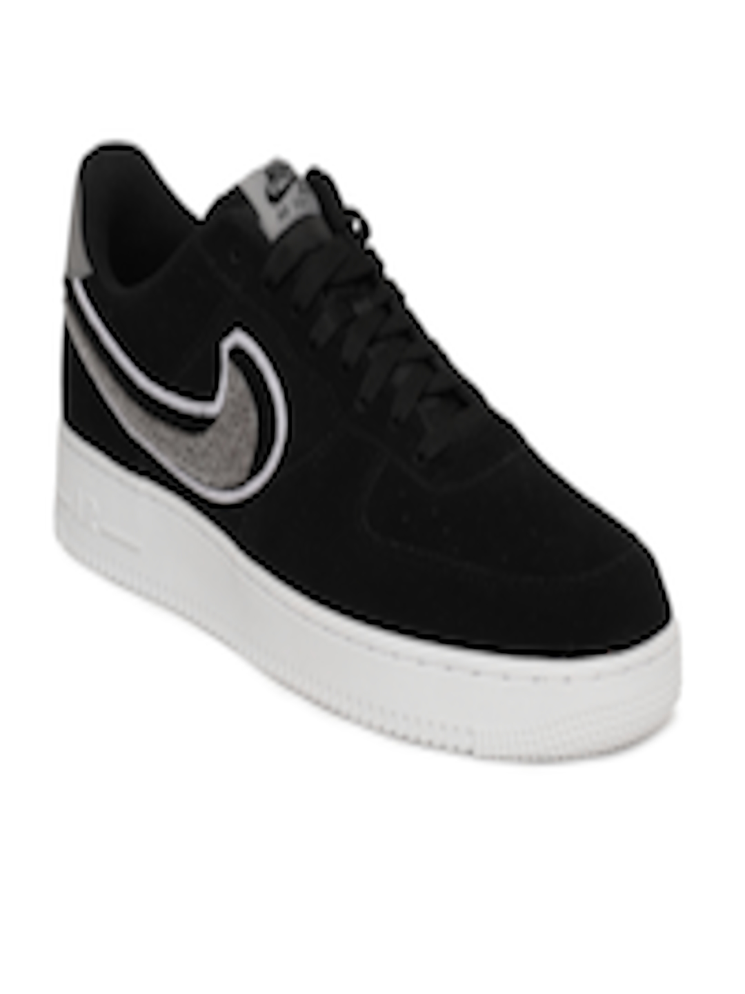 132434b1276a Buy Nike Men Black Air Force 1  07 LV8 Suede Basketball Shoes - Sports Shoes  for Men 6676890